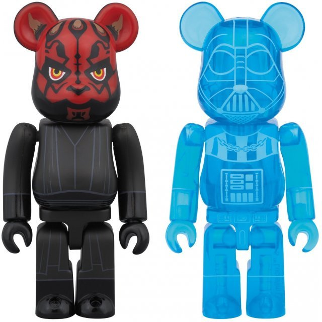 BE@RBRICK Star Wars: Darth Vader Holographic Ver. & Darth Maul (2 Pack)