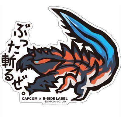 Capcom x b side label sticker monster hunter x buttagiruze
