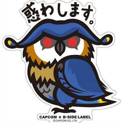 Capcom x b side label sticker monster hunter x madowashimasu