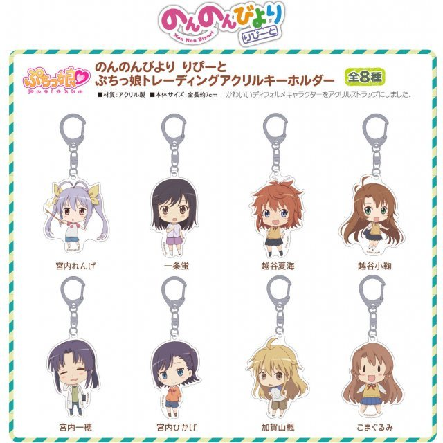 Non Non Biyori Repeat Puchikko Trading Acrylic Keychain (Set of 8 pieces)