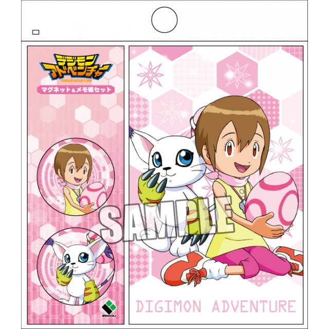Digimon Adventure Magnet & Memo Set: Hikari & Gatomon