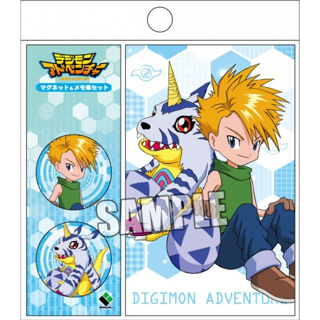 Digimon Adventure Magnet & Memo Set: Yamato & Gabumon