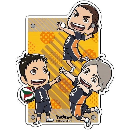 Haikyu!! Jumping Acrylic Pass Case: Karasuno Third-year Student
