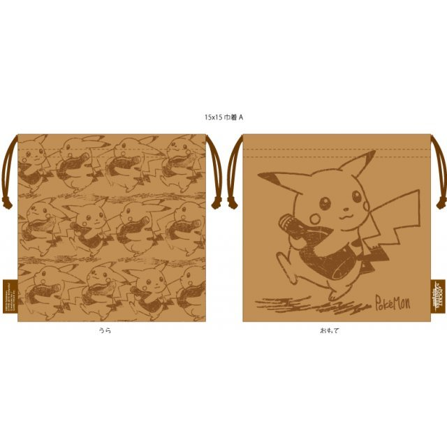 Pokemon Sepia Graffiti Mini Kinchaku: Bottle