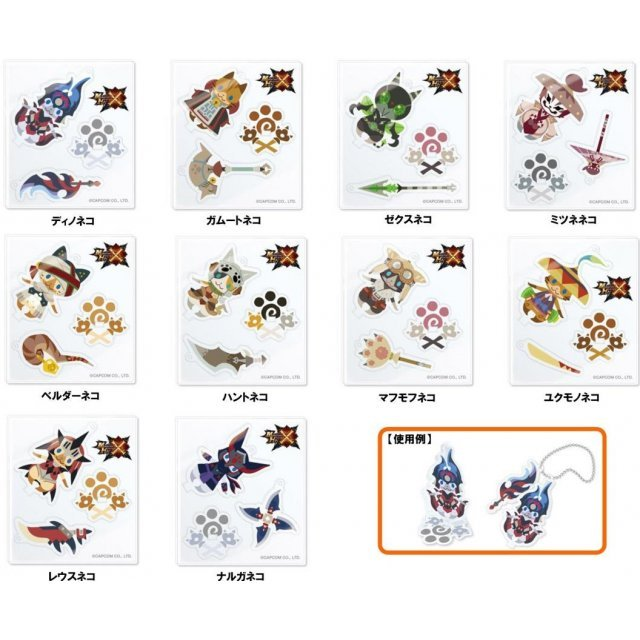 Monster Hunter X Acrylic Mascot Collection (Set of 10 pieces)