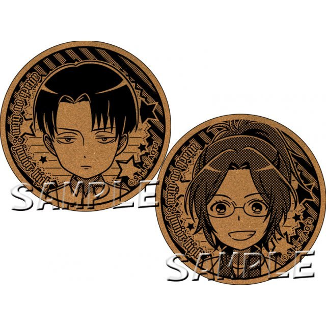Attack on Titan Junior High Cork Coaster: Levi & Hange
