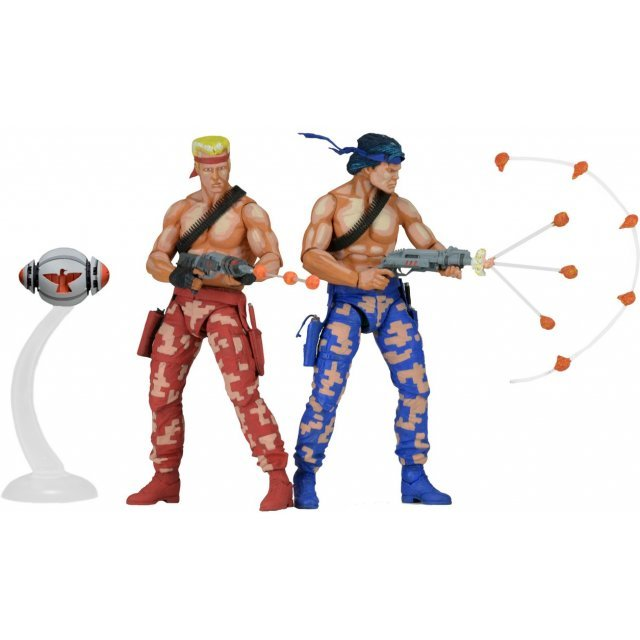 Contra 7 inch Action Figure: Bill Rizer & Lance Bean 2PK Video Game Appearance
