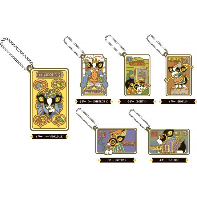 JoJo's Bizarre Adventure Rubber Mascot: Iggy's Bizarre Cosplay Tarot Ver. Dio and Pleasant Friends Ver. (Set of 6 pieces)