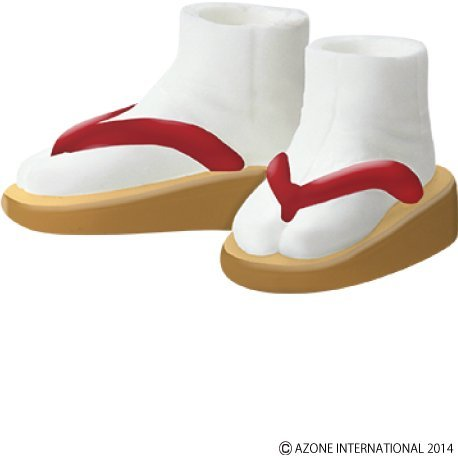 Pureneemo 1/6 Scale Original Costume: Soft Vinyl Sandals (Beige x Red)
