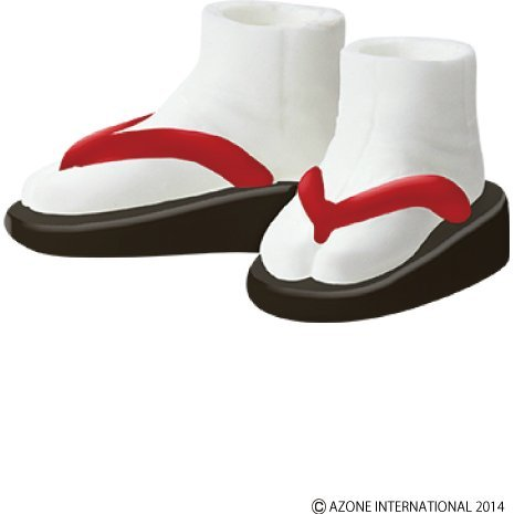 Pureneemo 1/6 Scale Original Costume: Soft Vinyl Sandals (Black x Red)