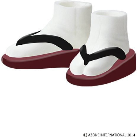 Pureneemo 1/6 Scale Original Costume: Soft Vinyl Sandals (Lipstick x Black)