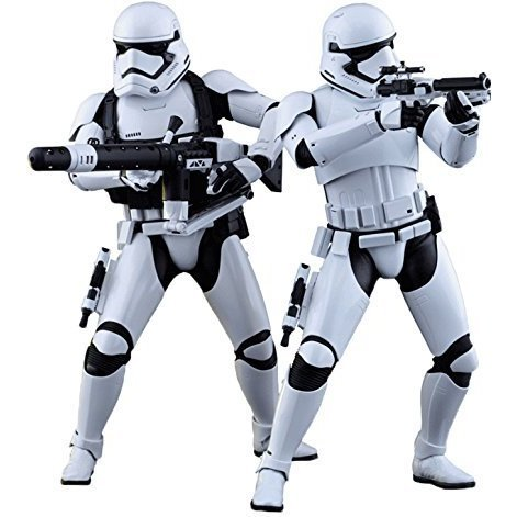 Star Wars The Force Awakens 1/6 Scale Collectible Figure: First Order Stormtrooper Officer and First Order Stormtrooper