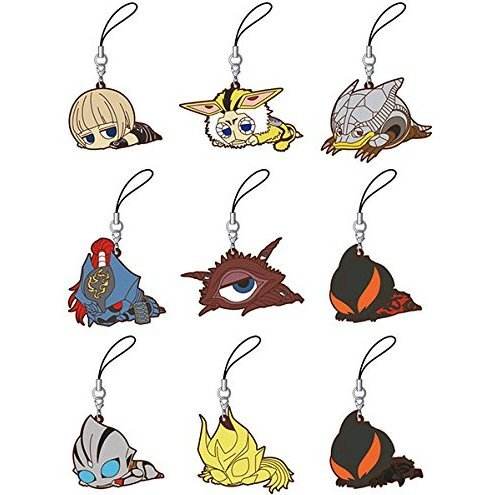 Ultra Kaiju Darun Rubber Strap Collection Heisei Box (Set of 8 pieces)
