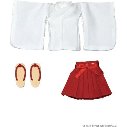 Picconeemo 1/2 Scale Costume: Short Length Miko Clothes Set (White x Red)