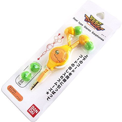 Digimon Adventure Reel Type Stereo Earphones: Agumon