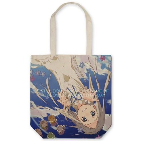 Anohana The Flower We Saw That Day Full Graphic Tote Bag Natural: Meiko Honma (Re-run)