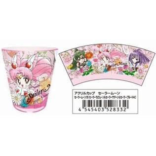 Sailor Moon Acrylic Cup 05: Sailor Chibi Moon & Sailor Saturn & Sailor Pluto AC