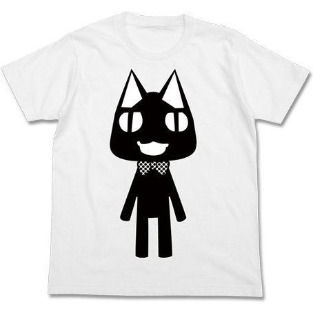 Doko Demo Issyo T-shirt White M: Kuro [Re-run]