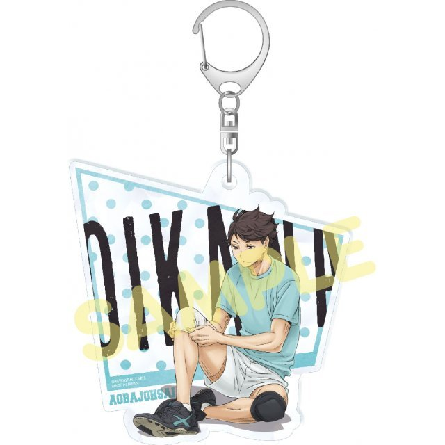 Haikyu!! Second Season Acrylic Big Key Chain Stand-by: Oikawa