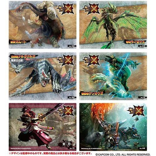 Monster Hunter X Clear Card Collection Gum 2 [First Release Limited Edition] (Set of 16 pieces)