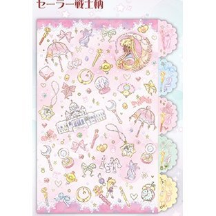 Sailor Moon Crystal Romance & Black Story Die Cut Clear File (Pink)