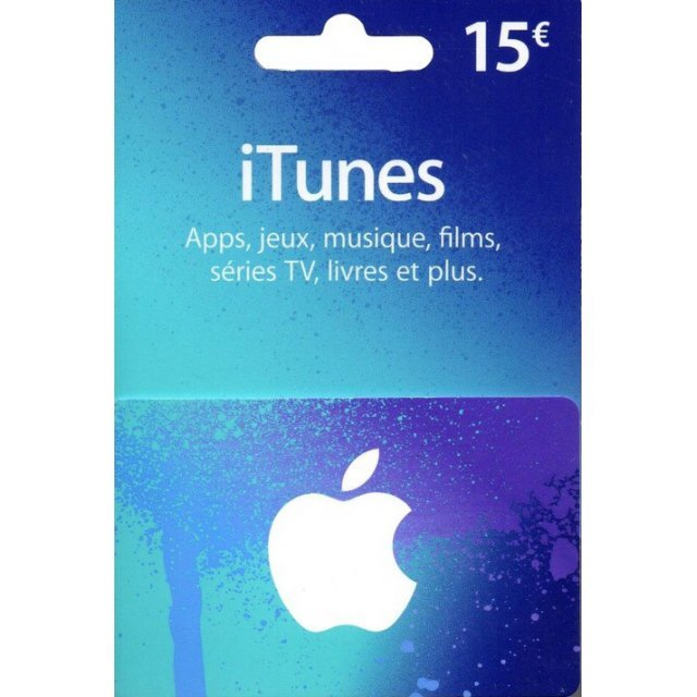 iTunes Card (EUR 15 / for FR accounts only)
