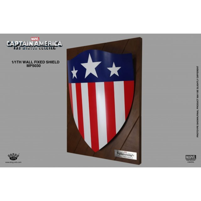 King Arts 1/1 Movie Props Series Captain America The Winter Soldier: Triangle Shield (Wall Fixed Style)