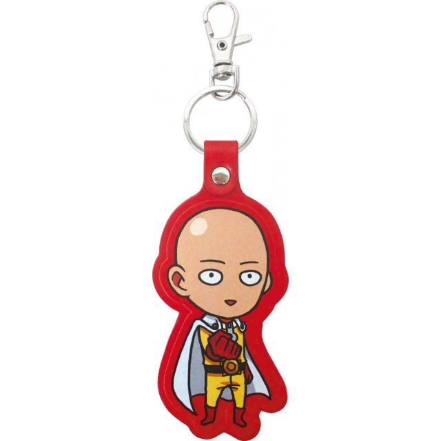 One-Punch Man Leather Key Ring: Saitama