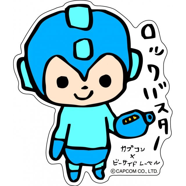 Capcom x b side label mega man sticker tegaki
