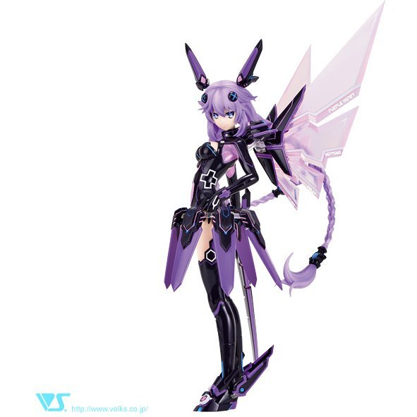 Choujigen Game Neptune The Animation CharaGumin 1/8 Scale Color Resin Kit: Purple Heart
