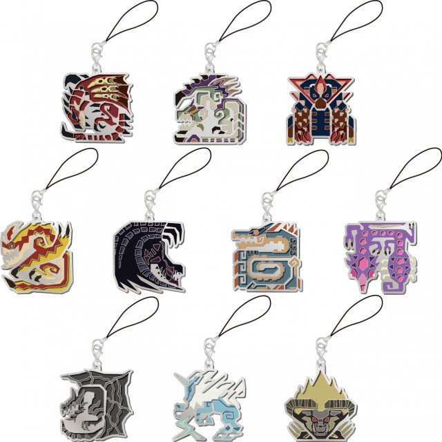 Monster Hunter X Monster Icon Stained Glass Design Mascot Collection Vol. 2 (Set of 10 pieces)