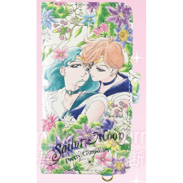 Sailor Moon Botanical Design Generalized Book Type Smartphone Cover: M Sailor Uranus & Sailor Neptune