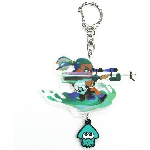 Splatoon Acrylic Key Chain with Squid Rubber: Boy (3K Scope)