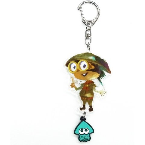 Splatoon Acrylic Key Chain with Squid Rubber: Bukichi