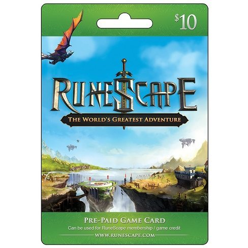 RuneScape Prepaid Game Card (USD 10) Digital