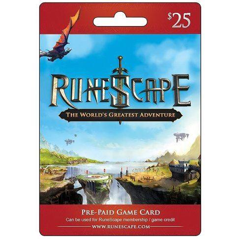 RuneScape Prepaid Game Card (USD 25) Digital digital