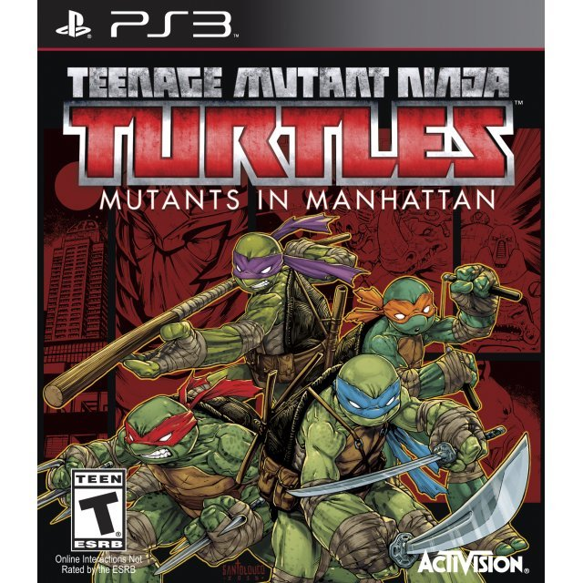 Kết quả hình ảnh cho TEENAGE MUTANT NINJA TURTLES: TURTLES IN MANHATTAN cover ps3