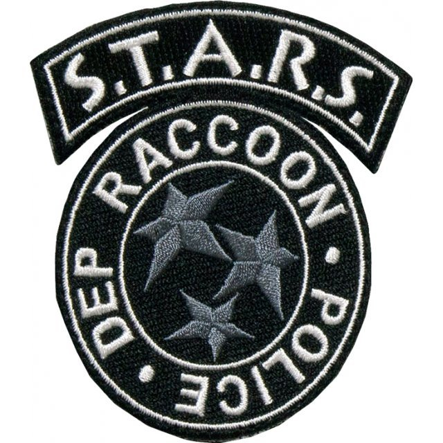 BIOHAZARD Embroidery/Monochrome Patch: S.T.A.R.S.