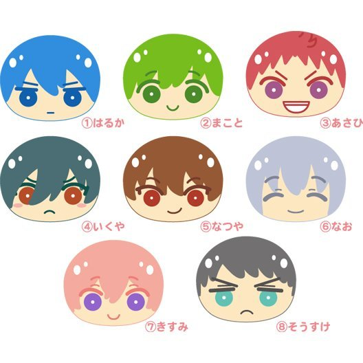 High Speed! -Free! Starting Days- Omanjuu Niginigi Mascot Chibi (Set of 8 pieces)