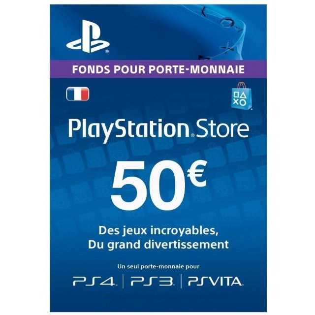 PSN Card 50 EUR | Playstation Network France