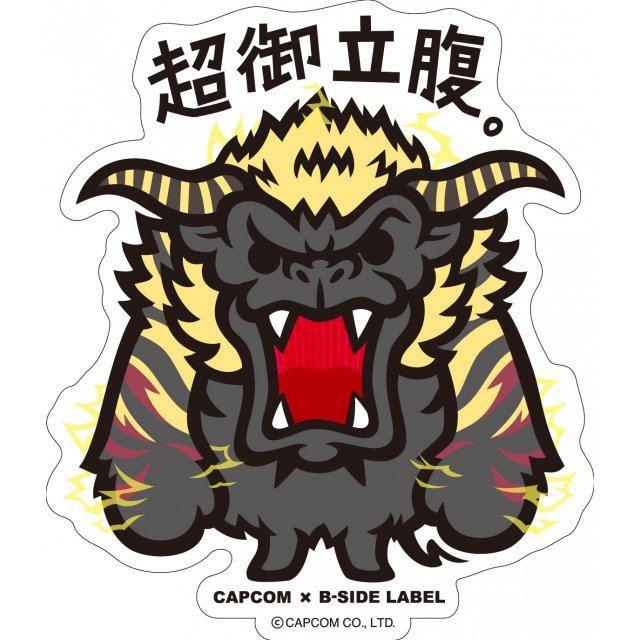 Capcom x b side label sticker monster hunter cho gorippuku re run