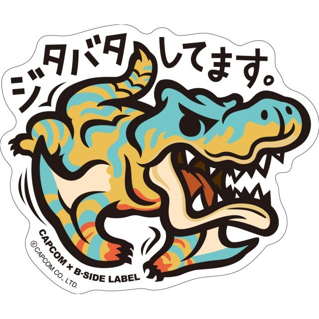 CAPCOM x B-SIDE Label Sticker: Monster Hunter Jitabata Shitemasu