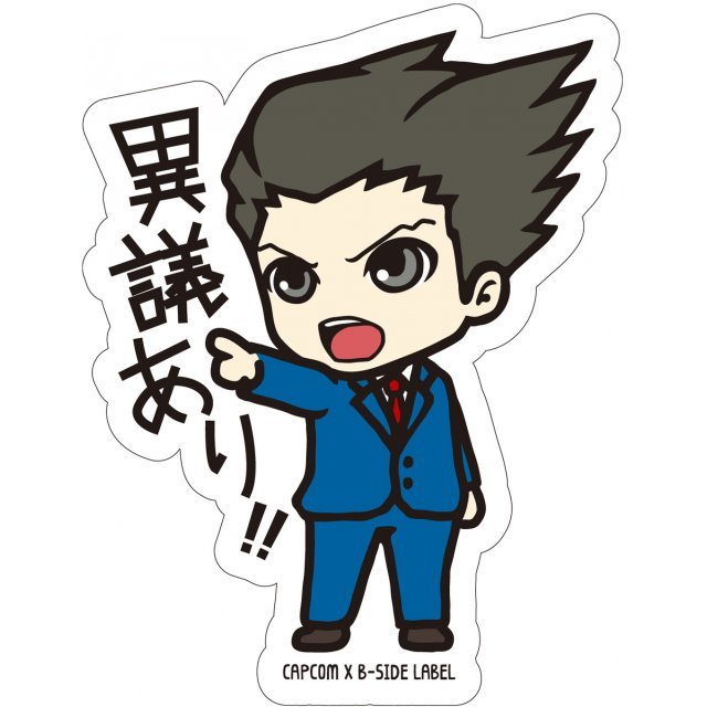 CAPCOM x B-SIDE Label Sticker Vol. 2: Ace Attorney Naruhodou (Re-run)