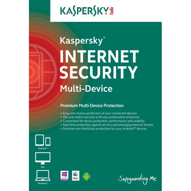 Kaspersky Internet Security Multi-Device 2015, 3 Devices, 1 Year