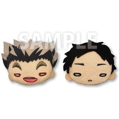 Nitotan Haikyu!! Second Season Plush Badge Set: Bokuto & Akaashi