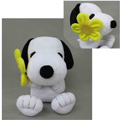 Snoopy Plush: Flower Gift Snoopy