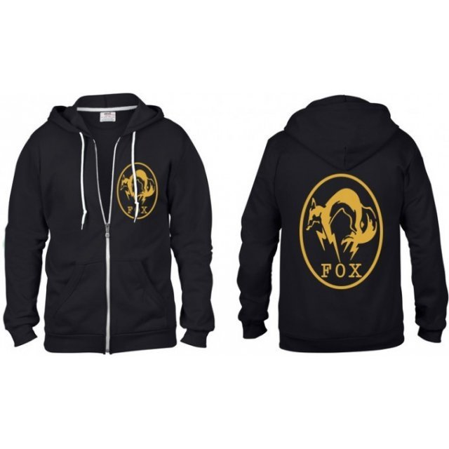 Metal Gear Solid V Zip Up Premium Hoodie: Fox (S Size)
