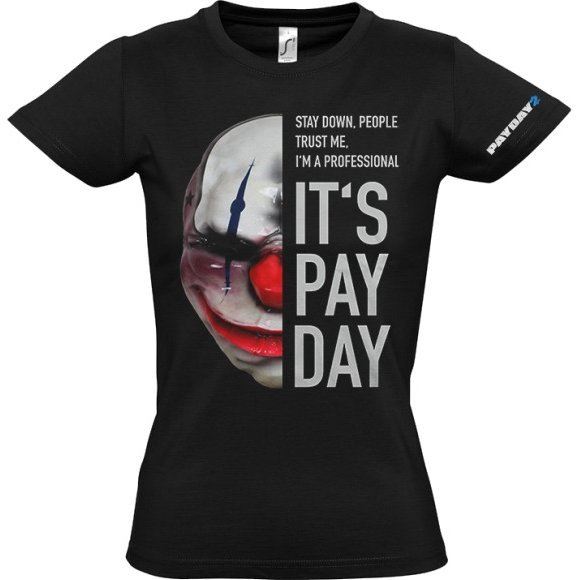 Payday 2 Ladies T-Shirt: Chains Mask (L Size)