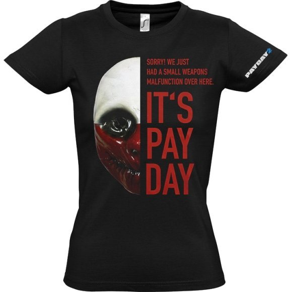 Payday 2 Ladies T-Shirt: Wolf Mask (S Size)