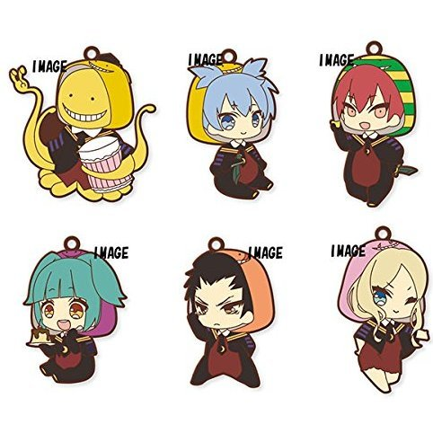 Eformed Assassination Classroom Pajachara Rubber Strap Collection (Set of 6 pieces)